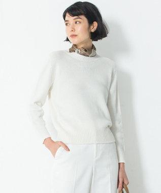 23区 L 【洗える】コットンブレンドコード ニット ホワイト系