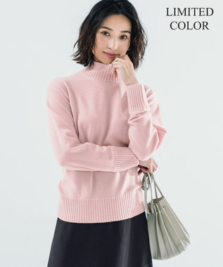 23区 S 【洗える/限定カラーあり】20カシミヤ ハイネック ニット ピンク系