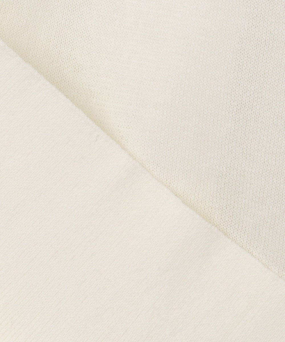 23区 L 【洗える】スイッチギャザー ニット ホワイト系