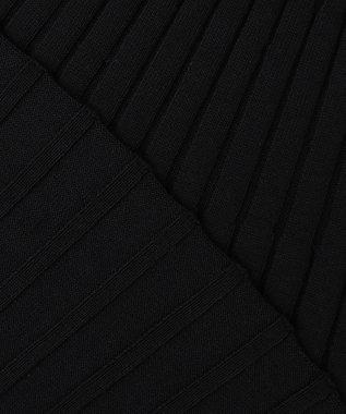 23区 【洗える】ストレッチリブハイゲージ Aライン ニット ブラック系