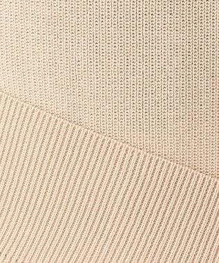 23区 【洗える&吸湿速乾】ドライコットンブレンドハーフカーディガン ニット ベージュ系