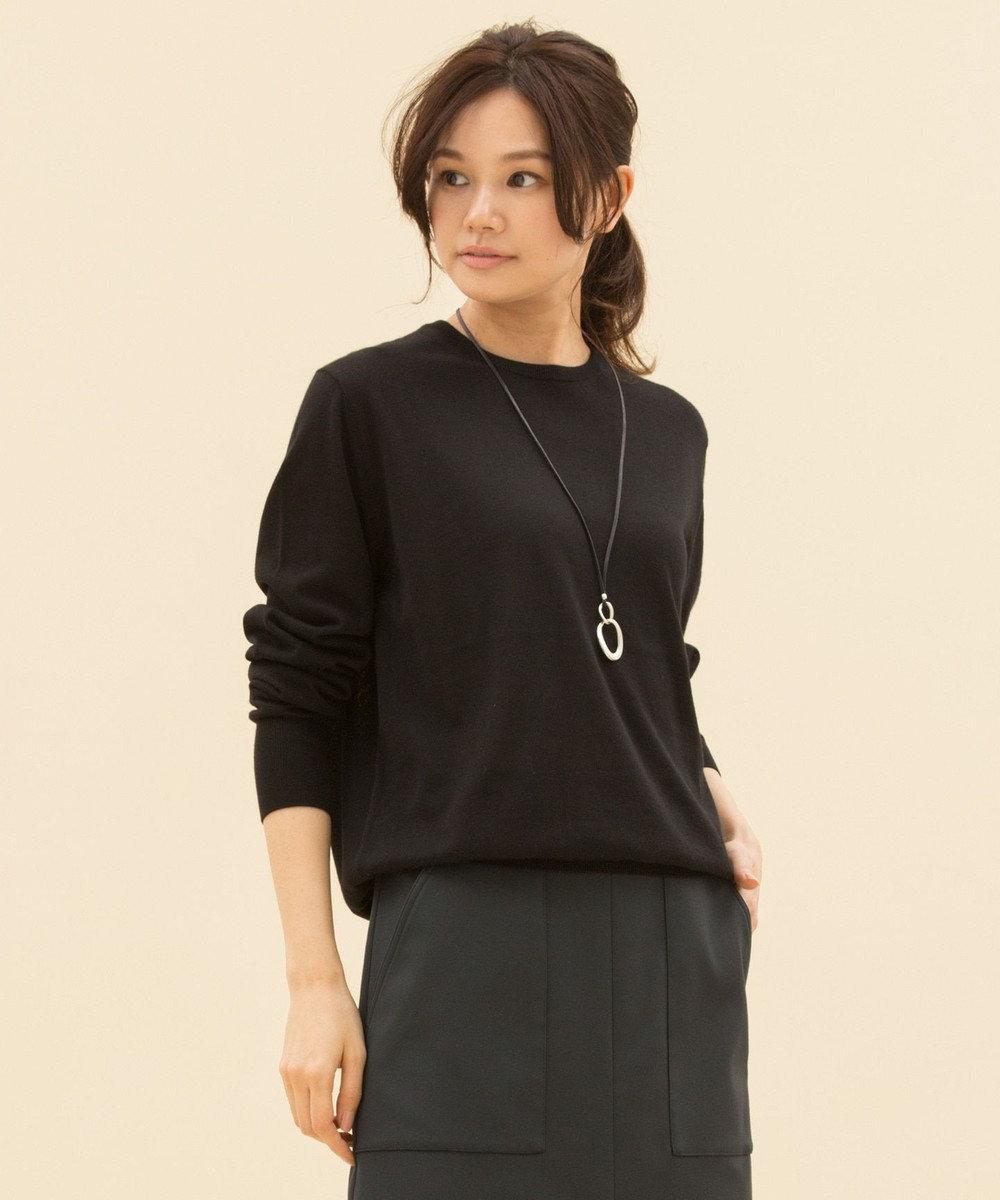 23区 L 【マガジン掲載】CARIAGGI カシミヤシルク ニット(検索番号F48) ブラック系
