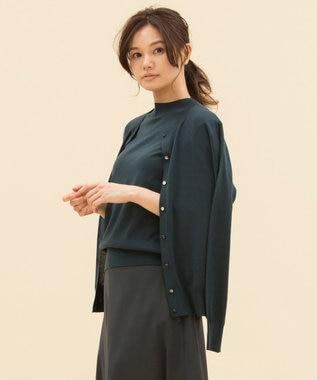 23区 L 【マガジン掲載】スーパーウール カーディガン(検索番号F49) パイングリーン系