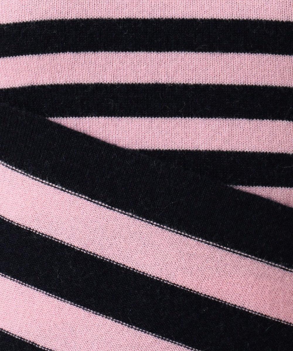 23区 【洗える】マーセライズドカシミヤボーダーニット(検索番号H48) ピンク系