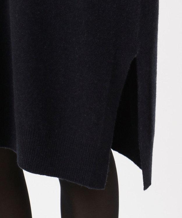 23区 L 【マガジン掲載】20マーセライズドカシミヤ チュニックニット(検索番号K36) ネイビー系