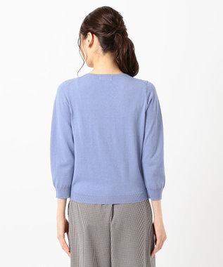 any SiS L 【UVケア】シンプルニット カーデ スモーキーブルー