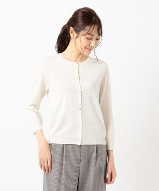 any SiS L 【UVケア】シンプルニット カーデ アイボリー