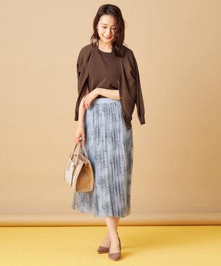 any SiS S 【美人百花10月号掲載】2SET シアードルマン ツインセット ブラウン