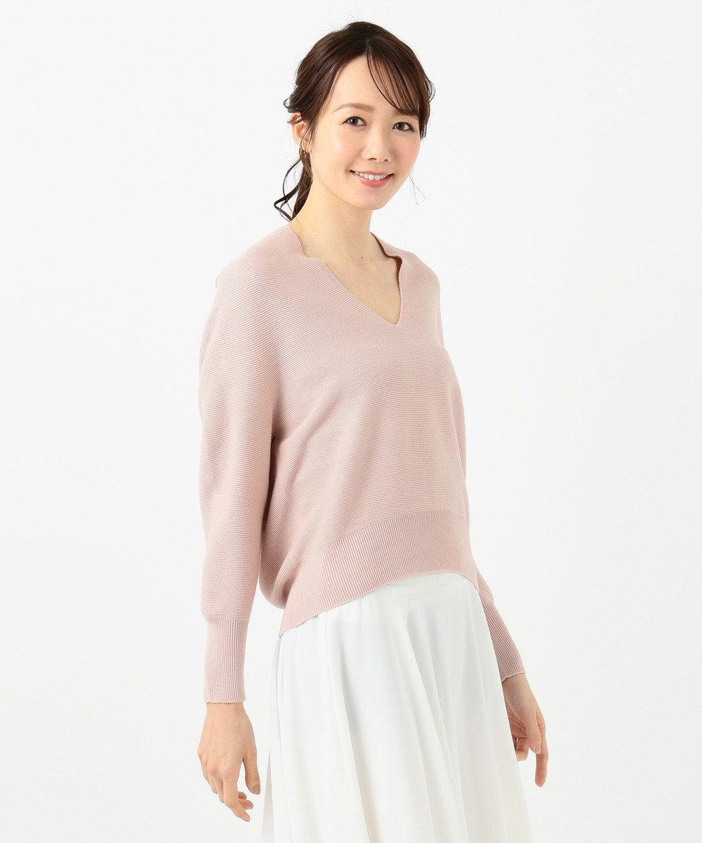 any SiS L 【Ray5月号掲載】ホールガーメント ニット グレイッシュピンク