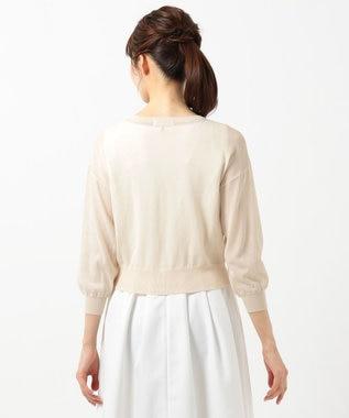 any SiS 【洗える】シアー カーディガン アイボリーベージュ