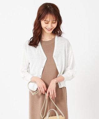 any SiS 【洗える】シアー カーディガン オフホワイト