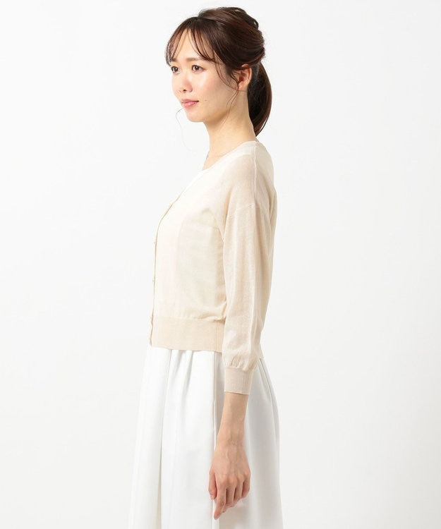 any SiS 【洗える】シアー カーディガン