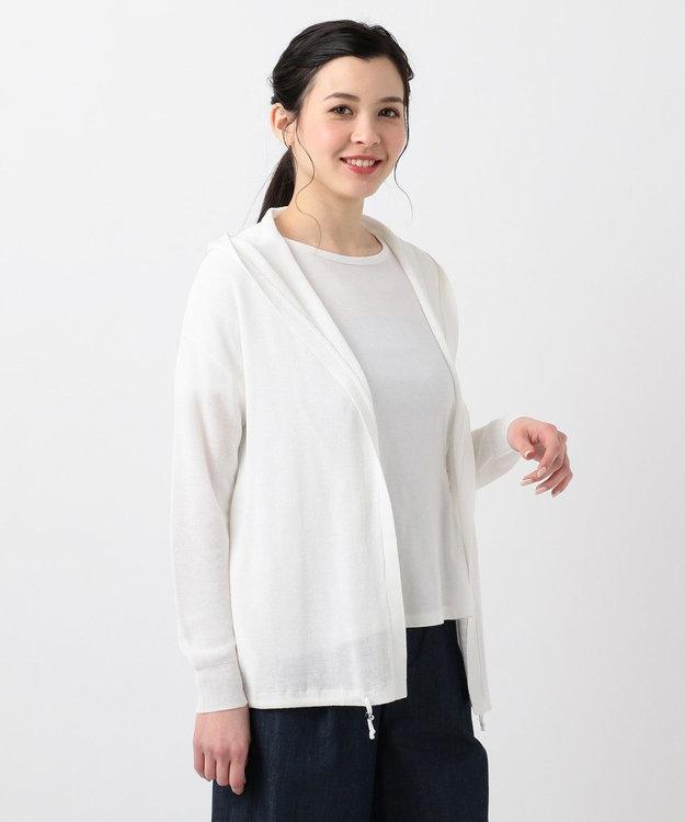 any SiS L 【UVケア】L'aubeウォッシャブルニット パーカー