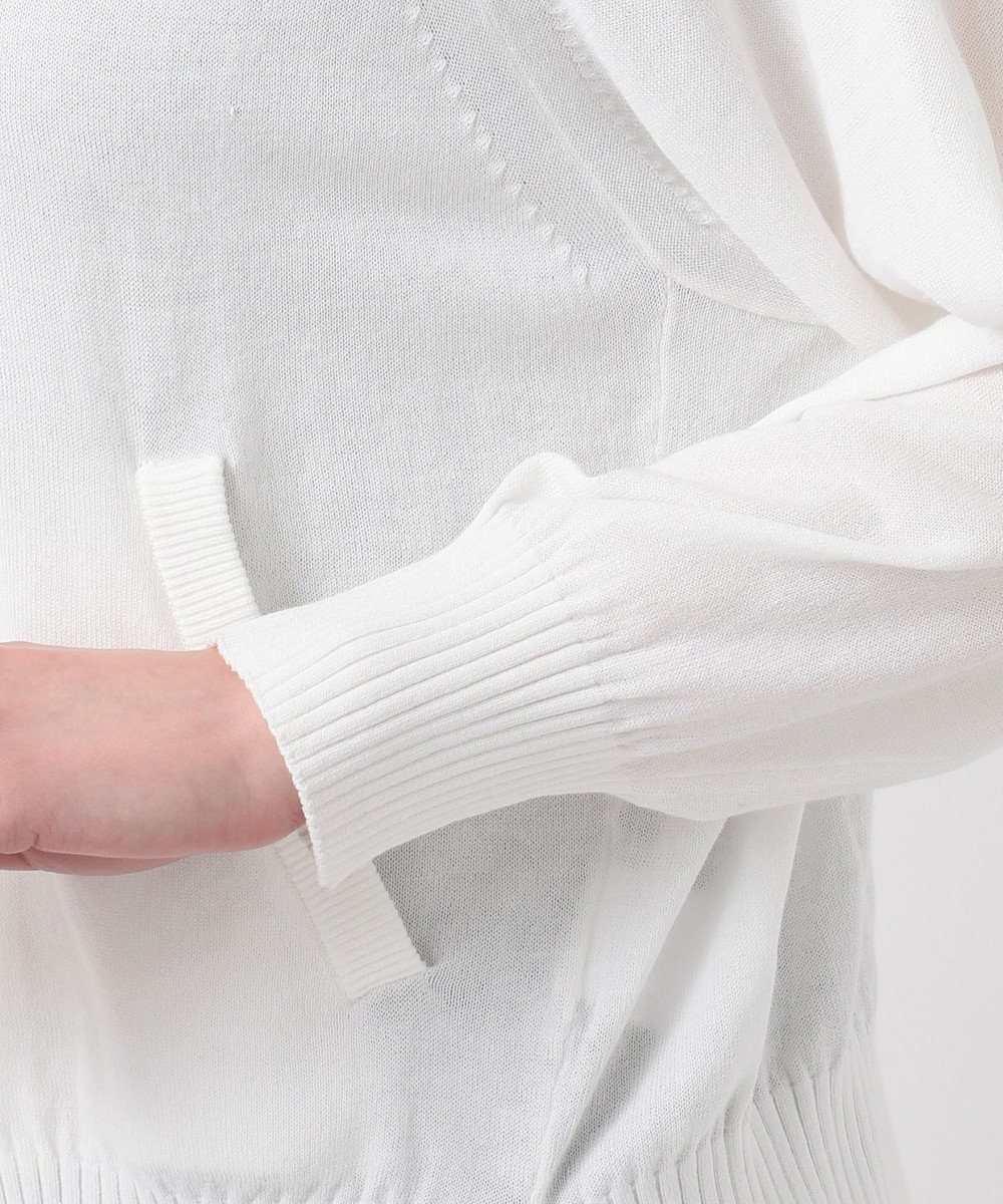 any SiS S 【UVケア】L'aubeドルマンニット パーカー オフホワイト