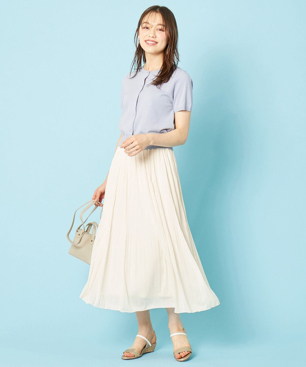 any SiS L 【美人百花9月号掲載】UVケア ハーフスリーブ カーディガン ライトブルー