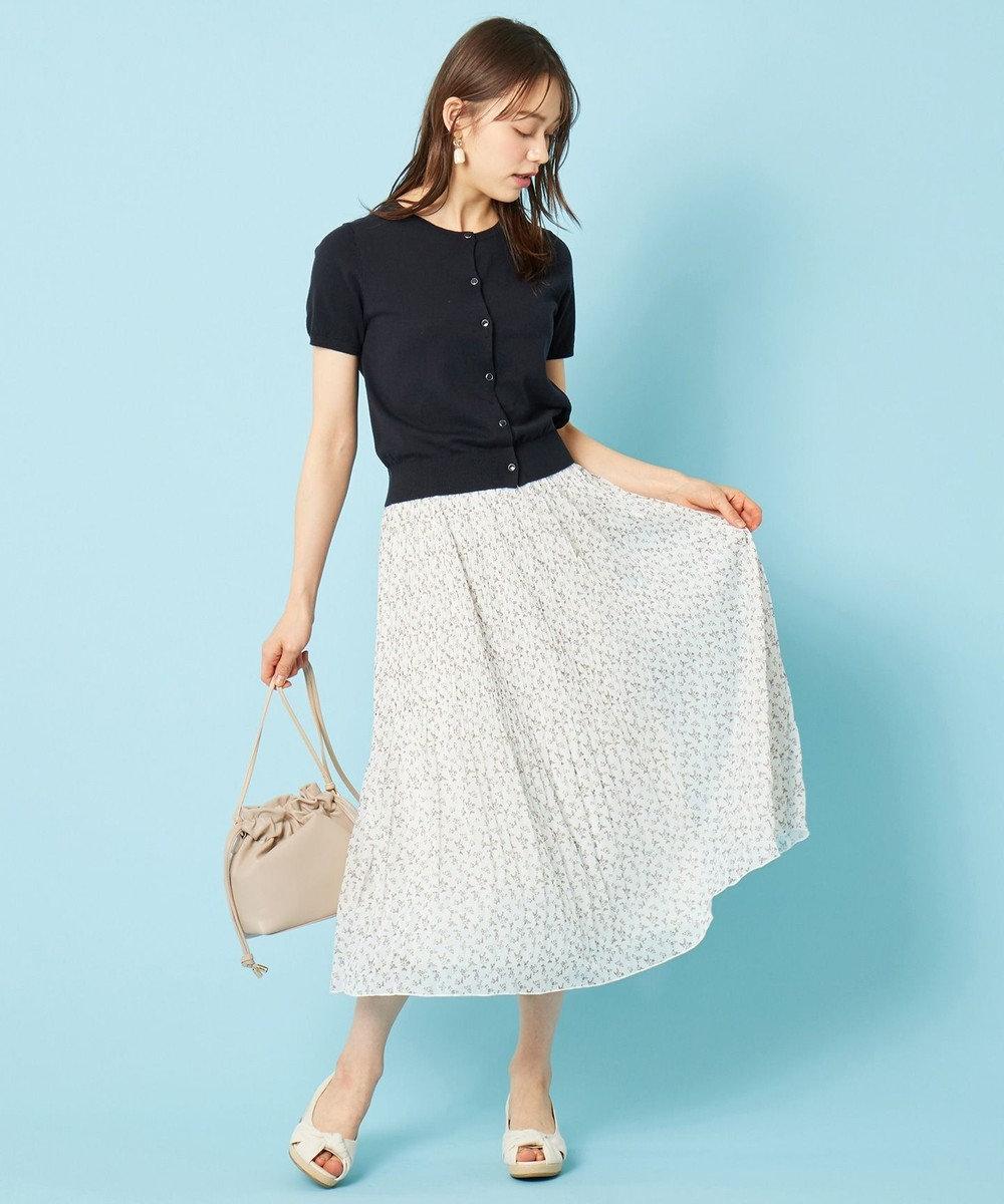 any SiS L 【美人百花9月号掲載】UVケア ハーフスリーブ カーディガン ネイビー