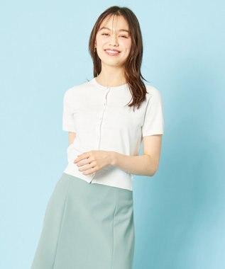 any SiS L 【美人百花9月号掲載】UVケア ハーフスリーブ カーディガン オフホワイト