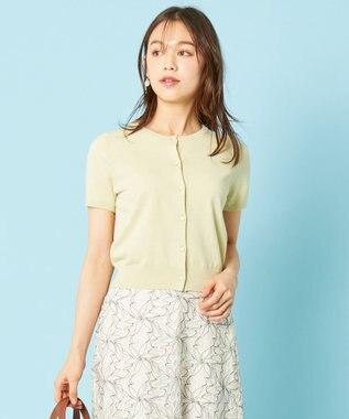 any SiS L 【美人百花9月号掲載】UVケア ハーフスリーブ カーディガン ライムイエロー