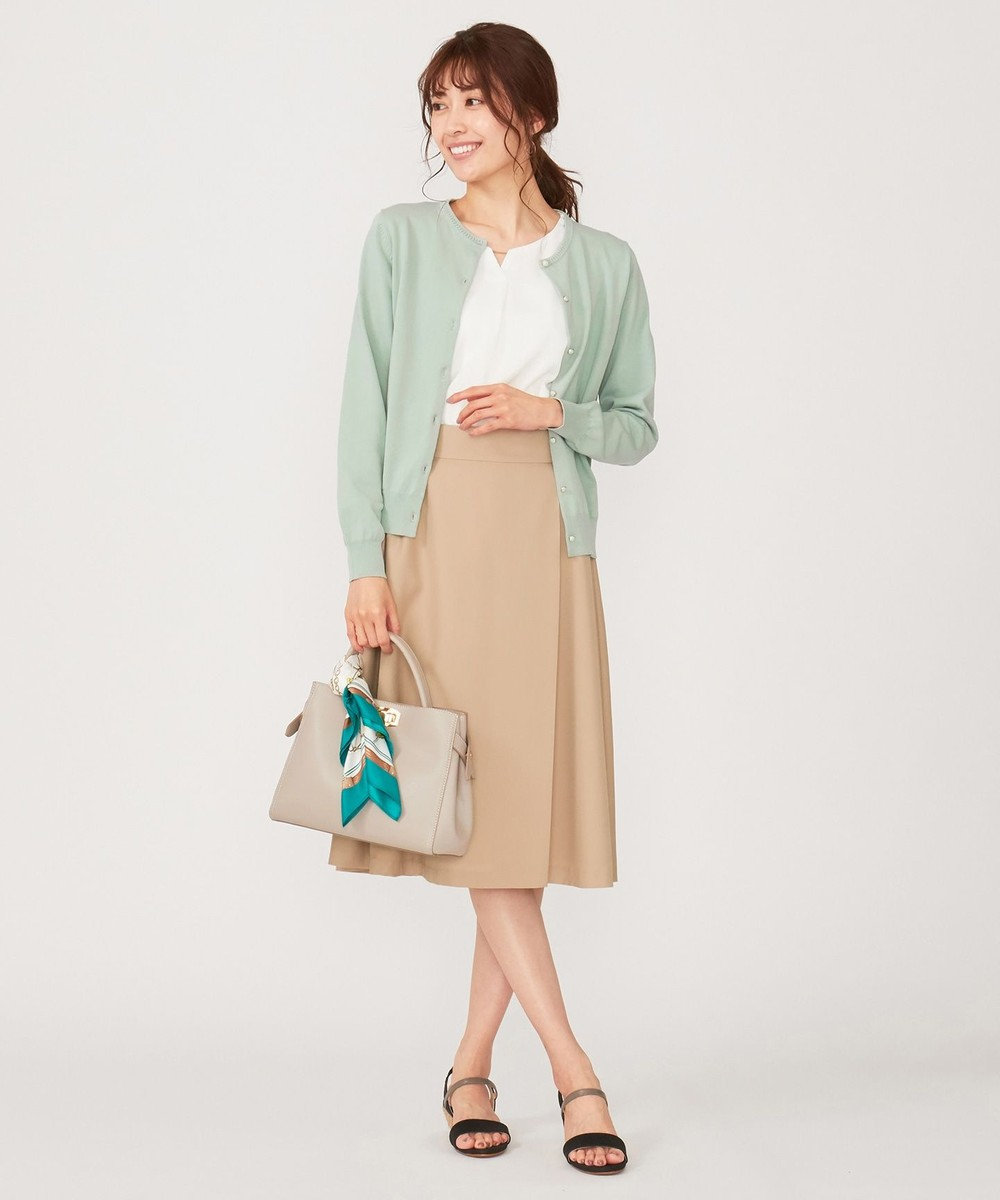 any SiS S 【洗える】イタリーヤーン カーディガン ミント