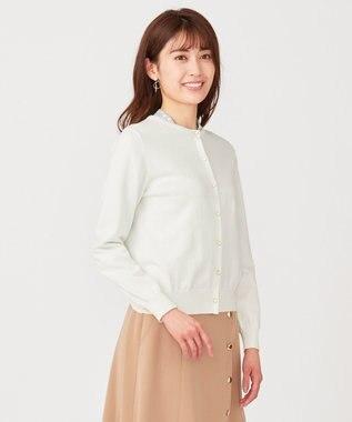 any SiS S 【洗える】イタリーヤーン カーディガン オフホワイト
