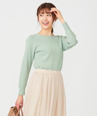 any SiS L 【洗える】イタリーヤーン クルーネック ニット ミント