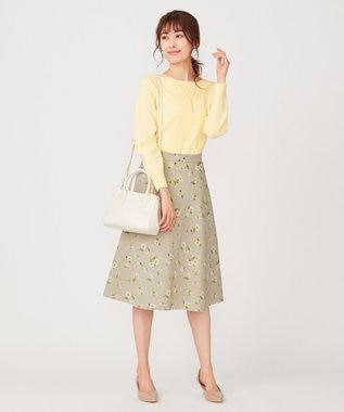 any SiS L 【洗える】イタリーヤーン クルーネック ニット ライトイエロー
