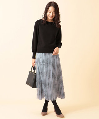 any SiS 【洗える】クリスタル ニット ブラック