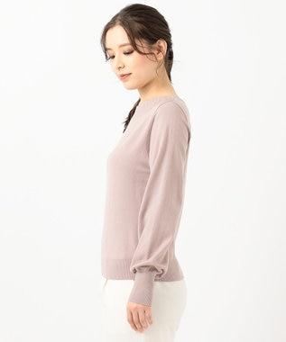 any SiS 【洗える】クリスタル ニット ローズグレー