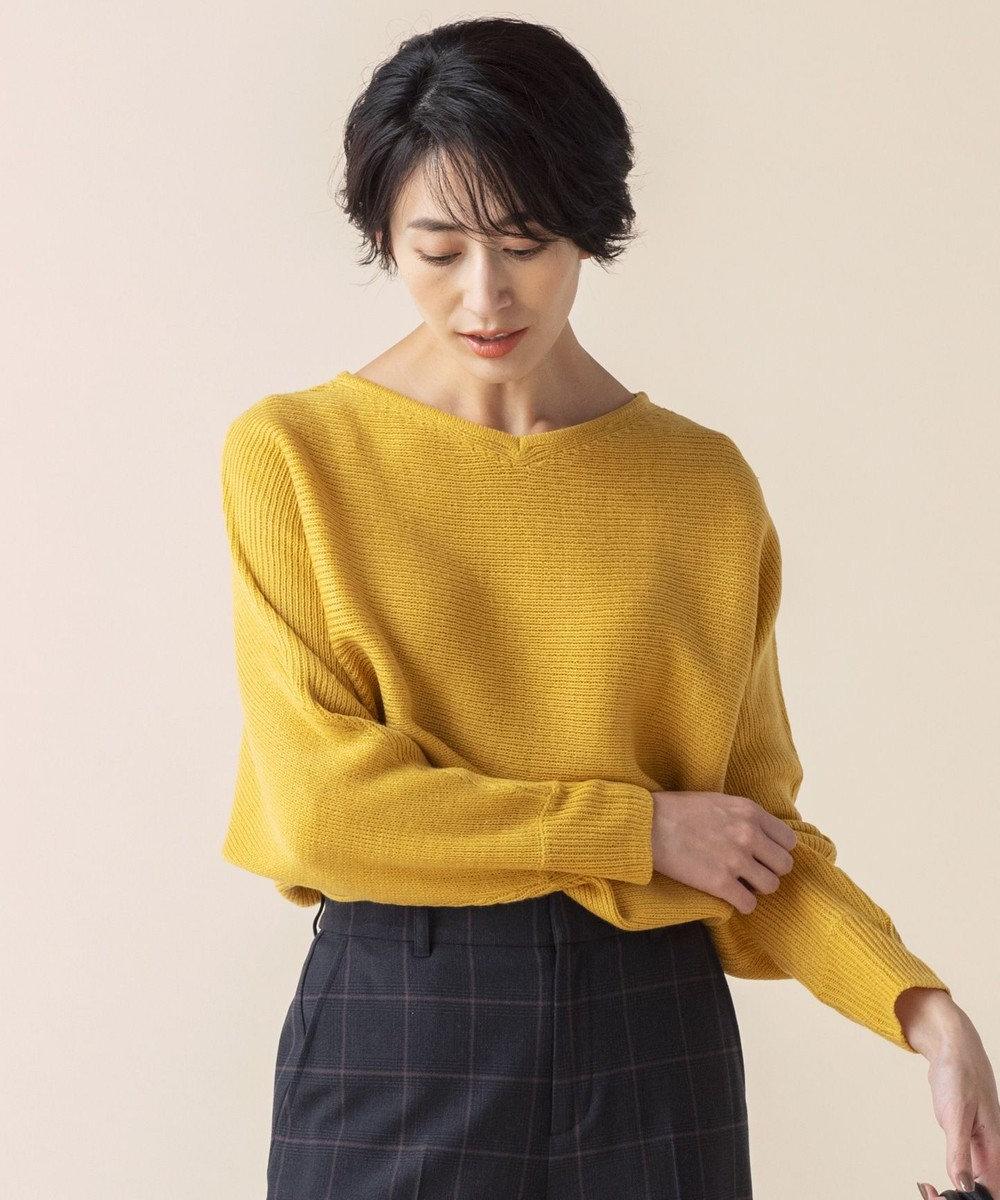 any SiS L 【洗える】カラフルドルマン ニット マスタード
