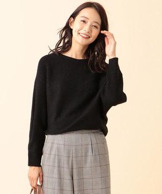any SiS L 【洗える】カラフルドルマン ニット ブラック