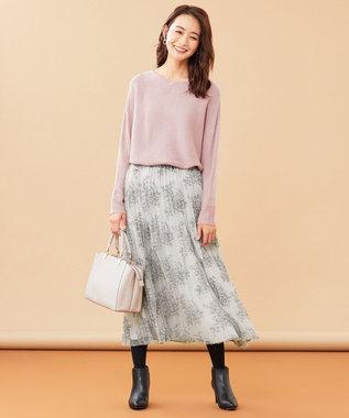 any SiS L 【洗える】カラフルドルマン ニット ピンク