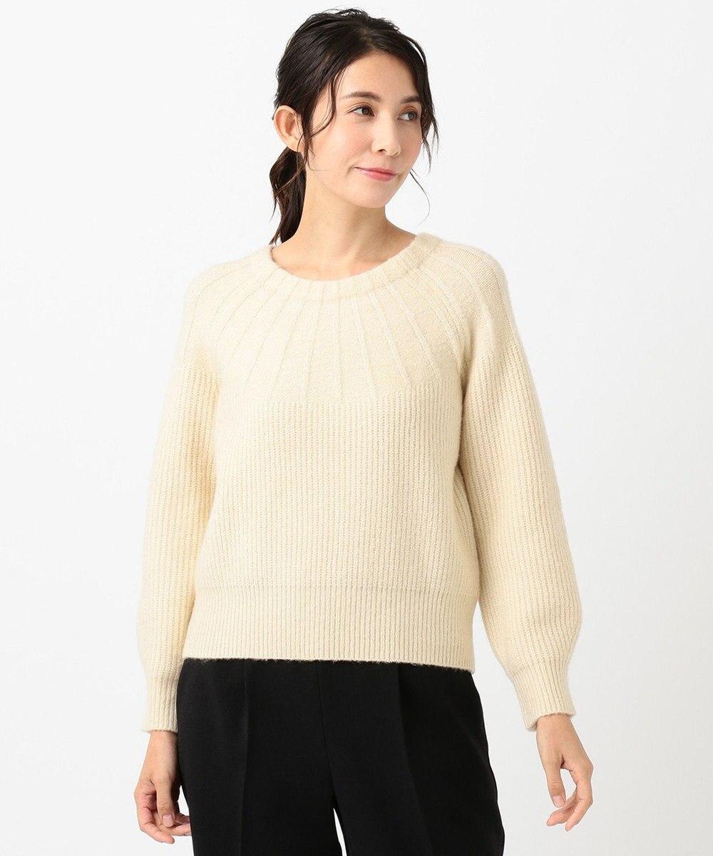 any SiS 【洗える】モチモチキュウシン ニット アイボリーベージュ