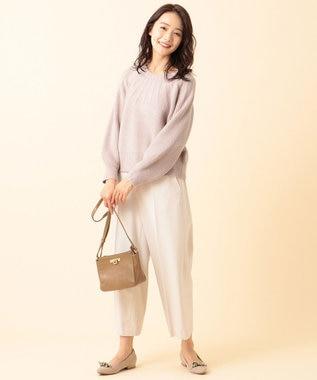 any SiS 【洗える】モチモチキュウシン ニット ローズグレー