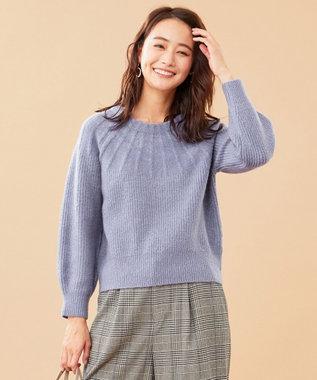 any SiS 【洗える】モチモチキュウシン ニット スモーキーブルー