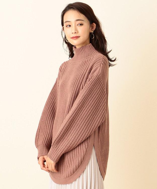 any SiS 【洗える】ハイネックオーバー ニット