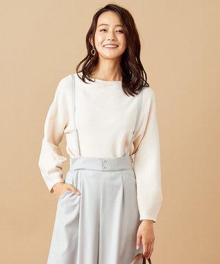 any SiS 【WEB限定色あり】カラーパフスリーブ ニット アイボリー