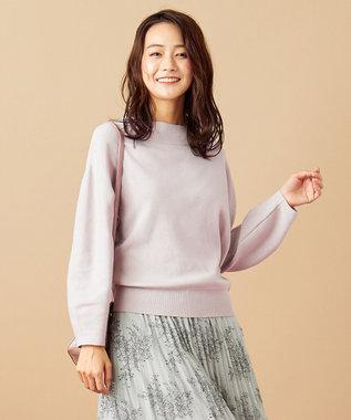 any SiS 【WEB限定色あり】カラーパフスリーブ ニット ローズグレー