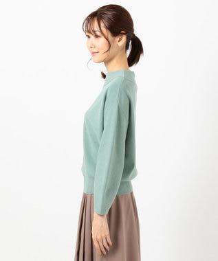 any SiS 【WEB限定色あり】カラーパフスリーブ ニット 【WEB限定】ミント