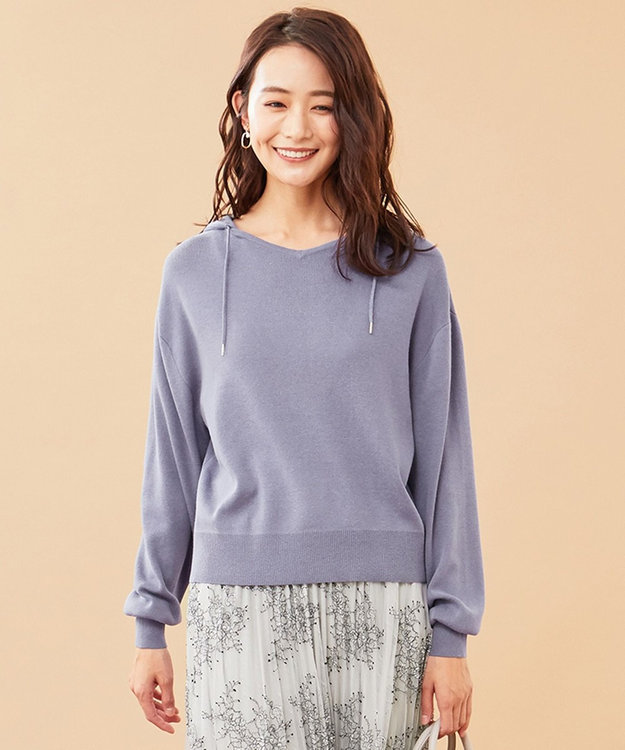 any SiS L 【洗える】ニット パーカー
