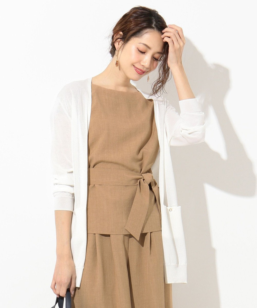 any SiS 【洗える】CO/ACEハオリ カーディガン ホワイト系