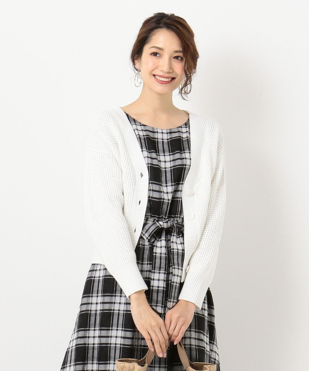 any SiS 【洗える】ローゲージ カーディガン ホワイト系