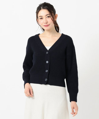 any SiS 【洗える】ローゲージ カーディガン ネイビー系