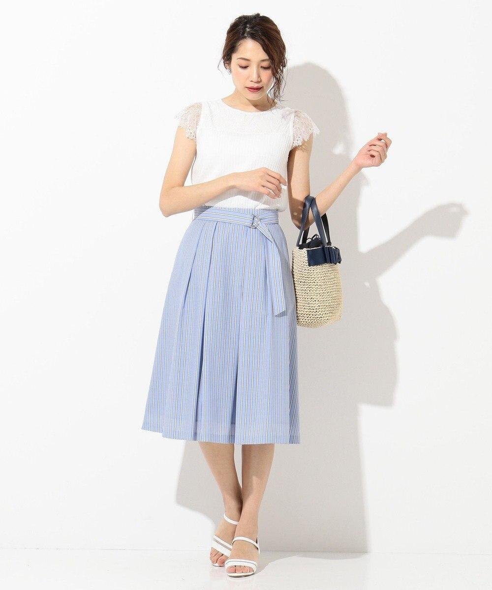 any SiS 【洗える】レースコンビP/O ニット ホワイト系
