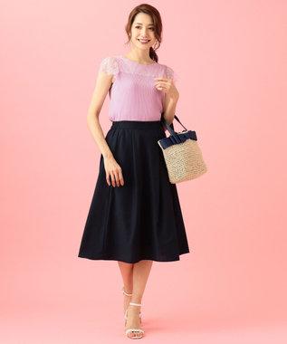any SiS 【洗える】レースコンビP/O ニット ライラック系