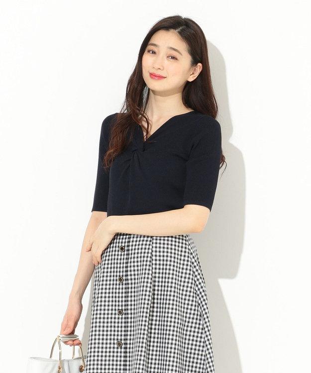 any SiS 【洗える】フロントツイスト ニット
