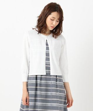 any SiS S 【追加生産決定!】泉里香さん着用 コンパクト カーディガン ホワイト系