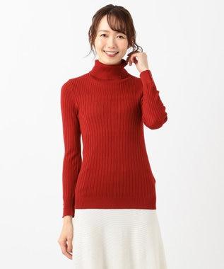 any SiS 【洗える】イタリーヤーン リブタートル レッド系