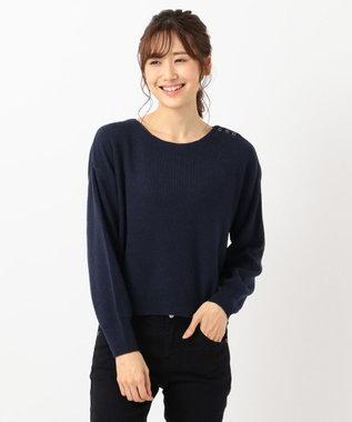 any SiS 【難波蘭さん監修】パーソナルカラー ボートネック ニット ネイビー