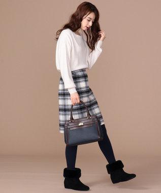 any SiS 【難波蘭さん監修】パーソナルカラー ボートネック ニット オフホワイト