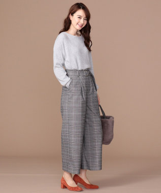 any SiS 【難波蘭さん監修】パーソナルカラー ボートネック ニット シルバーグレー